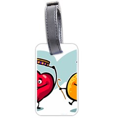 Dancing Fruit Apple Organic Fruit Luggage Tags (one Side)  by Simbadda