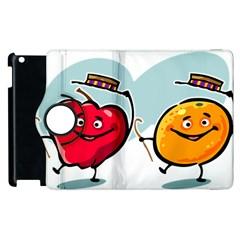 Dancing Fruit Apple Organic Fruit Apple Ipad 3/4 Flip 360 Case by Simbadda