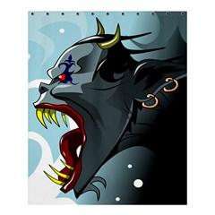 Demon Devil Evil Monster Alien Shower Curtain 60  X 72  (medium)  by Simbadda