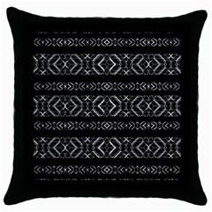 Futuristic Geometric Stripes Pattern Throw Pillow Case (black) by dflcprints