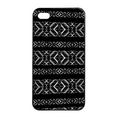 Futuristic Geometric Stripes Pattern Apple Iphone 4/4s Seamless Case (black) by dflcprints
