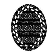 Futuristic Geometric Stripes Pattern Ornament (oval Filigree)