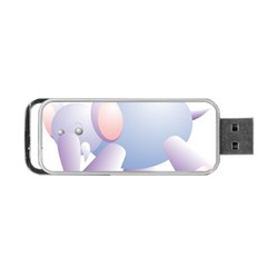Elephant Portable Usb Flash (one Side) by Simbadda