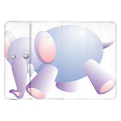 Elephant Samsung Galaxy Tab 8 9  P7300 Flip Case by Simbadda