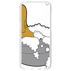 Dog Bath Grooming Samsung Galaxy S8 White Seamless Case by Simbadda