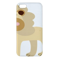 Lion Cute Sketch Funny Apple Iphone 5 Premium Hardshell Case by Simbadda