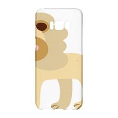 Lion Cute Sketch Funny Samsung Galaxy S8 Hardshell Case  by Simbadda