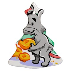 Mouse Cheese Tail Rat Hole Christmas Tree Ornament (two Sides)