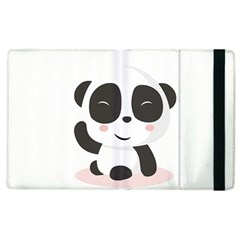 Panda Bear Funny Cute Apple Ipad 3/4 Flip Case by Simbadda