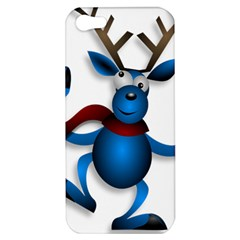 Reindeer Dancing Blue Christmas Apple Iphone 5 Hardshell Case