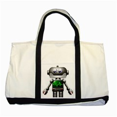 Robot Two Tone Tote Bag