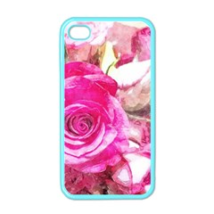 Rose Watercolour Bywhacky Apple Iphone 4 Case (color) by bywhacky