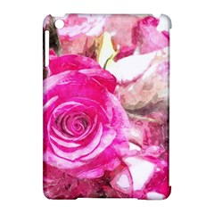 Rose Watercolour Bywhacky Apple Ipad Mini Hardshell Case (compatible With Smart Cover) by bywhacky