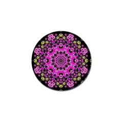 Namaste Decorative Flower Pattern Of Floral Golf Ball Marker by pepitasart