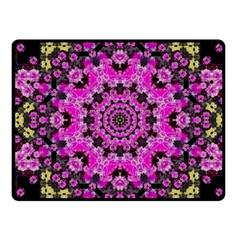 Namaste Decorative Flower Pattern Of Floral Fleece Blanket (small) by pepitasart