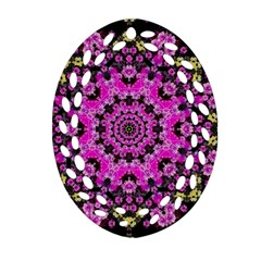 Namaste Decorative Flower Pattern Of Floral Oval Filigree Ornament (two Sides) by pepitasart