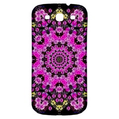 Namaste Decorative Flower Pattern Of Floral Samsung Galaxy S3 S Iii Classic Hardshell Back Case by pepitasart