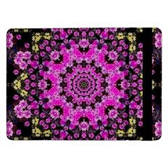 Namaste Decorative Flower Pattern Of Floral Samsung Galaxy Tab Pro 12 2  Flip Case