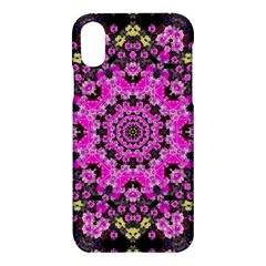 Namaste Decorative Flower Pattern Of Floral Apple Iphone X Hardshell Case by pepitasart