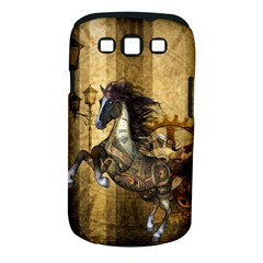 Awesome Steampunk Horse, Clocks And Gears In Golden Colors Samsung Galaxy S Iii Classic Hardshell Case (pc+silicone)