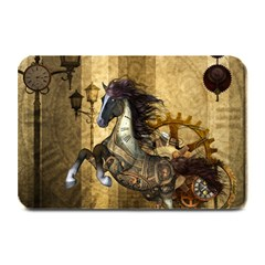 Awesome Steampunk Horse, Clocks And Gears In Golden Colors Plate Mats by FantasyWorld7