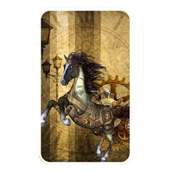Awesome Steampunk Horse, Clocks And Gears In Golden Colors Memory Card Reader by FantasyWorld7