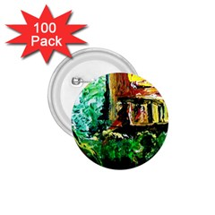 Old Tree And House With An Arch 5 1 75  Buttons (100 Pack)  by bestdesignintheworld