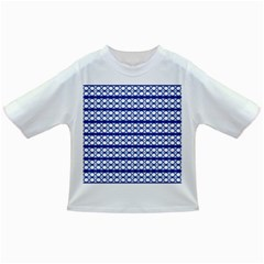 Circles Lines Blue White Pattern  Infant/toddler T Shirts by BrightVibesDesign