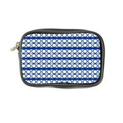 Circles Lines Blue White Pattern  Coin Purse by BrightVibesDesign
