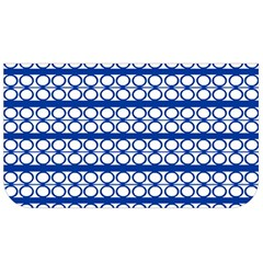 Circles Lines Blue White Pattern  Lunch Bag by BrightVibesDesign