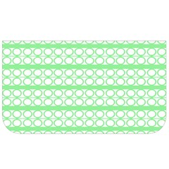 Circles Lines Green White Pattern Lunch Bag by BrightVibesDesign