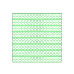 Circles Lines Green White Pattern Satin Bandana Scarf by BrightVibesDesign