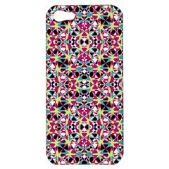 Multicolored Abstract Geometric Pattern Apple Iphone 5 Hardshell Case by dflcprints
