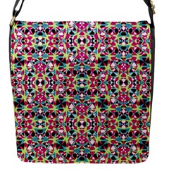 Multicolored Abstract Geometric Pattern Flap Messenger Bag (s) by dflcprints