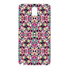 Multicolored Abstract Geometric Pattern Samsung Galaxy Note 3 N9005 Hardshell Back Case by dflcprints