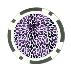 Purple Abstract Swirl Drops Poker Chip Card Guard (10 Pack) by snowwhitegirl