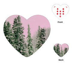 Winter Trees Pink Playing Cards (heart)  by snowwhitegirl