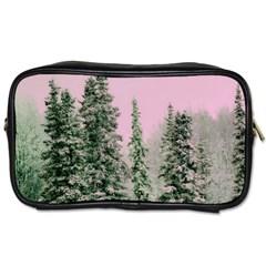 Winter Trees Pink Toiletries Bags 2 Side by snowwhitegirl