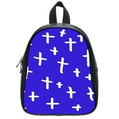 Blue White Cross School Bag (small) by snowwhitegirl