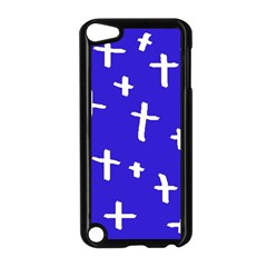 Blue White Cross Apple Ipod Touch 5 Case (black) by snowwhitegirl