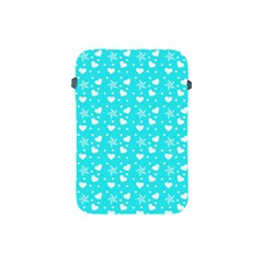 Hearts And Star Dot Blue Apple Ipad Mini Protective Soft Cases by snowwhitegirl