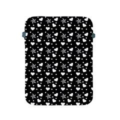 Hearts And Star Dot Black Apple Ipad 2/3/4 Protective Soft Cases by snowwhitegirl
