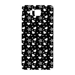 Hearts And Star Dot Black Samsung Galaxy Alpha Hardshell Back Case by snowwhitegirl