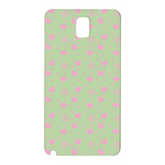 Hearts And Star Dot Green Samsung Galaxy Note 3 N9005 Hardshell Back Case by snowwhitegirl