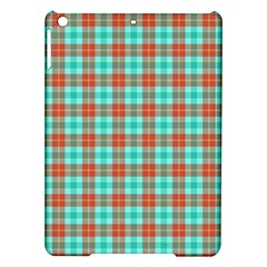 Aqua Orange Plaid Ipad Air Hardshell Cases by snowwhitegirl