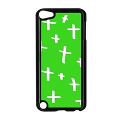 Green White Cross Apple Ipod Touch 5 Case (black) by snowwhitegirl