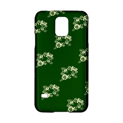 Canal Flowers Cream On Green Bywhacky Samsung Galaxy S5 Hardshell Case  by bywhacky