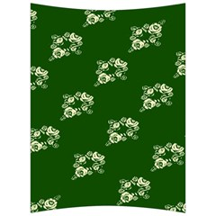 Canal Flowers Cream On Green Bywhacky Back Support Cushion