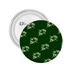 Canal Flowers Cream On Green Bywhacky 2 25  Buttons