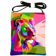 Animal Colorful Decoration Lion Shoulder Sling Bags by Simbadda
